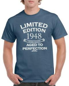 21st-30th-40th-50th-60th-70th-80th-Unisex-Funny-T-Shirts-Aged-To-Perfection-Top