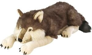 Giant Plush Wolf Soft Body Pillow Large Realistic Stuffed Animal Toy