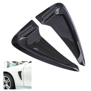 Universal-Kohlefaser-Look-Side-Body-Marker-Air-Flow-Fender-Wing-Vent-Abdeckung