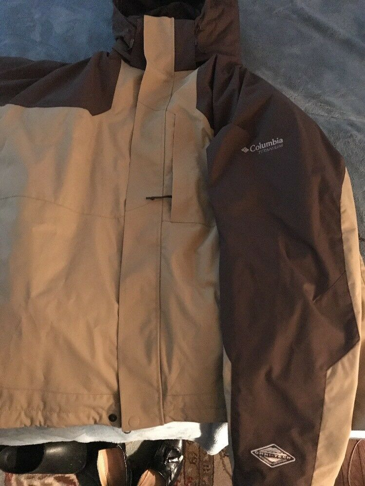 Mens Columbia Titanium Winter Coat 2xl