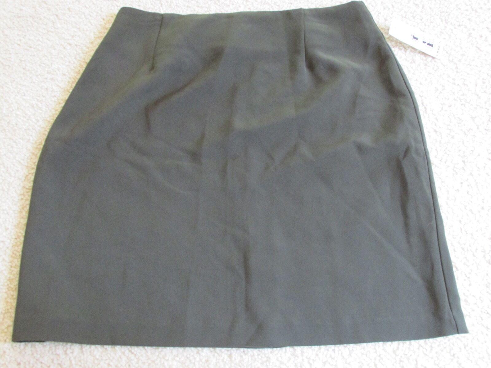 Neu mit Etiketten Damen Ilyse Hart Ltd Solid Armeegrün A-Line Suit Rock Größe 14