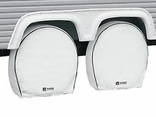 New White RV Deluxe Wheel Cover 4 Pack Classic Accessories P/N: 80-221-152302-0