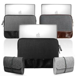 Slim-Minimalist-PU-Leather-Sleeve-CHARGER-MOUSE-Bag-for-Apple-MacBook-Air-Pro