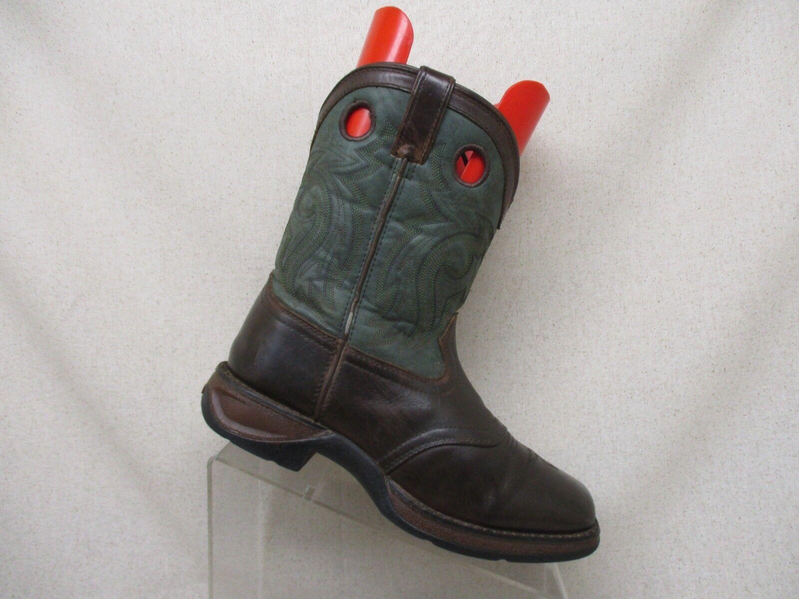 Durango Green Brown Leather Buckaroo Cowboy Boots Mens Size 5 M Style DWBT047