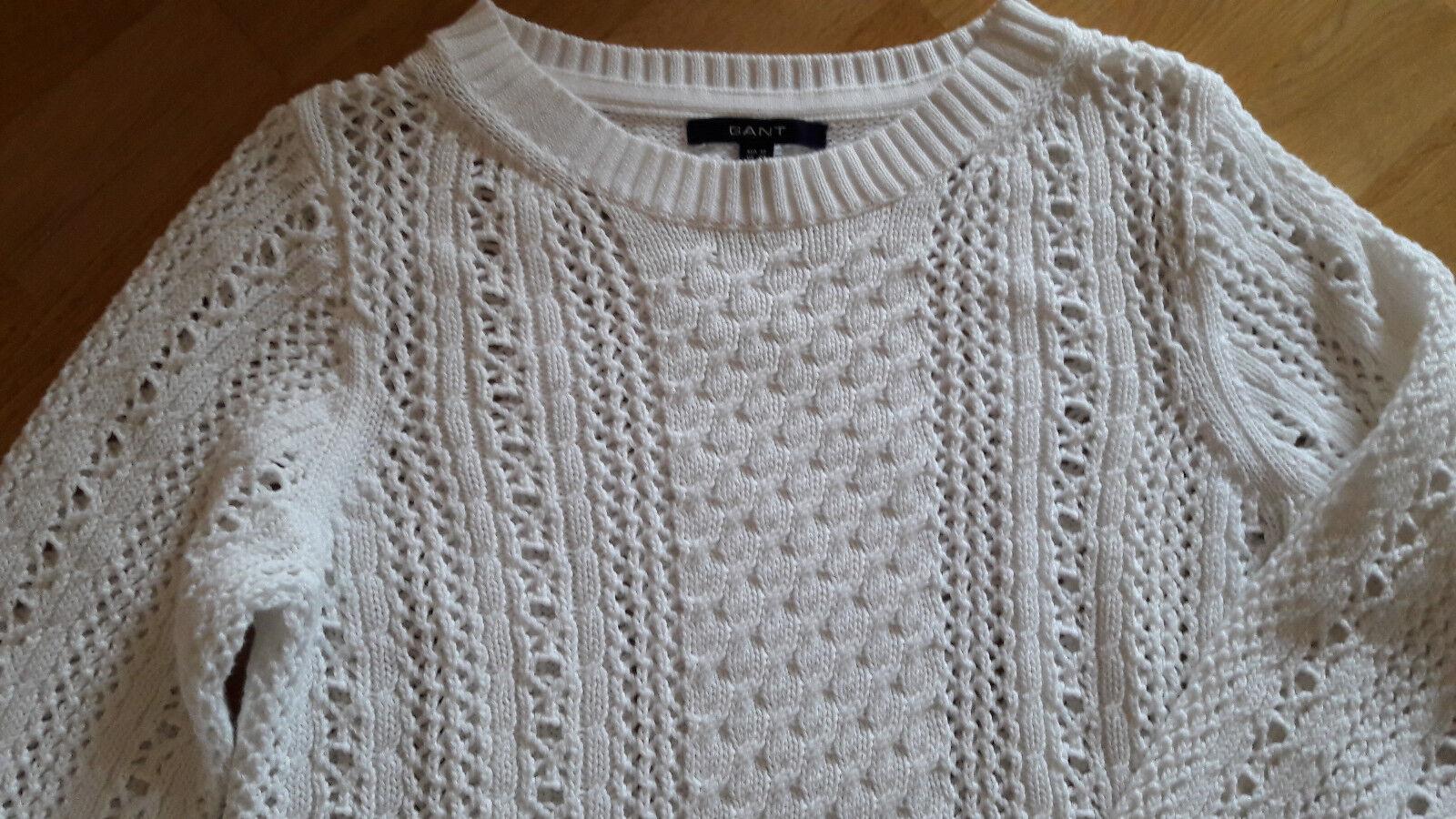 GANT Pullover, Damen, NEU, Größe M, Farbe Farbe Farbe  weiß | Starke Hitze- und Abnutzungsbeständigkeit  4f44f9