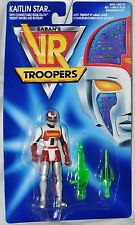 Saban's VR Troopers Kaitlin Star w/ Trident Sword & Raygun MOC 65943 Kenner 1994