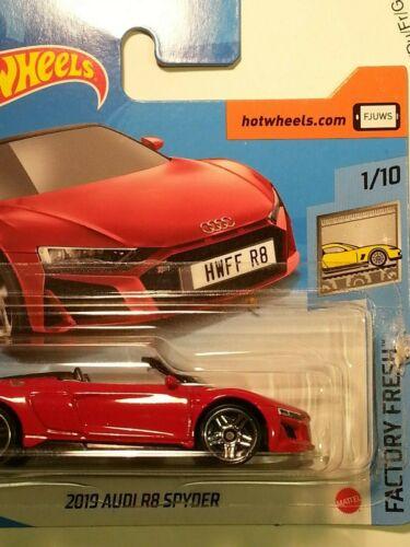 "1//10 /""Factory Fresh/"" #175 Hot Wheels 2020-2019 Audi R8 Spyder rot"
