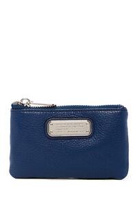 7de56503505a Marc Jacobs New Q Slim Leather Key Pouch Dark Blue MSRP  98