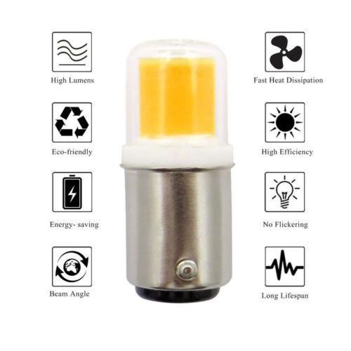 6pcs Ba15d LED Bulb 4W COB 1511 Light 110V Fit Vacuum cleaner// sewing machine H