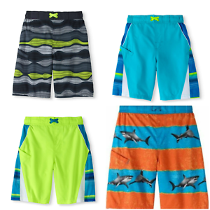 7a58bd5865 Teen Boys Swim Trunks Swim Shorts Ocean, Sharks UPF 50+ XXL 18 FREE ...
