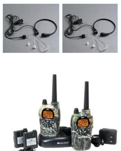 2 WALKIE TALKIES MIDLAND GXT1050 +2 LARINGOFONOS 56KM 5W RESISTENTES SISTEMA VOX