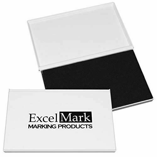"""ExcelMark Rubber Stamp Ink Pad Extra Large 4-1//4 by 7-1//4"""""""