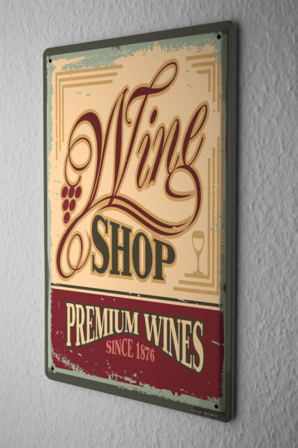 Tin Sign Alcohol Retro Premium wine Kitchen
