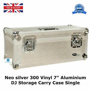 7-034-Vinyl-Record-Aluminium-DJ-Flight-Carry-Case-Silver-Holds-300-Tough-Strong-Box