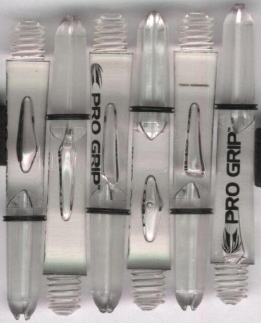 1 set of 3 1.75in 2ba Clear TARGET Pro Grip Dart Shafts /& Springs