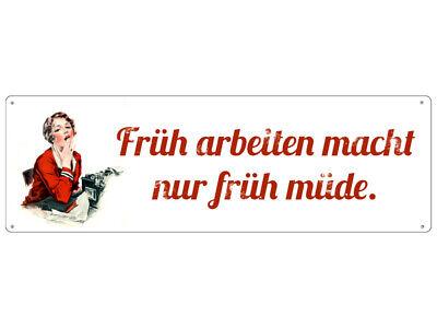 Blechschild EINMAL MIT PROFIS ARBEITEN Werkstatt Schild Kneipe Blech Geburtstag