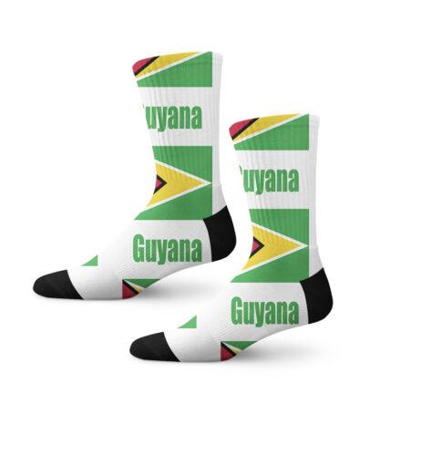 Guyana Country Flag Fun Cool Novelty 7 in Men Women Socks