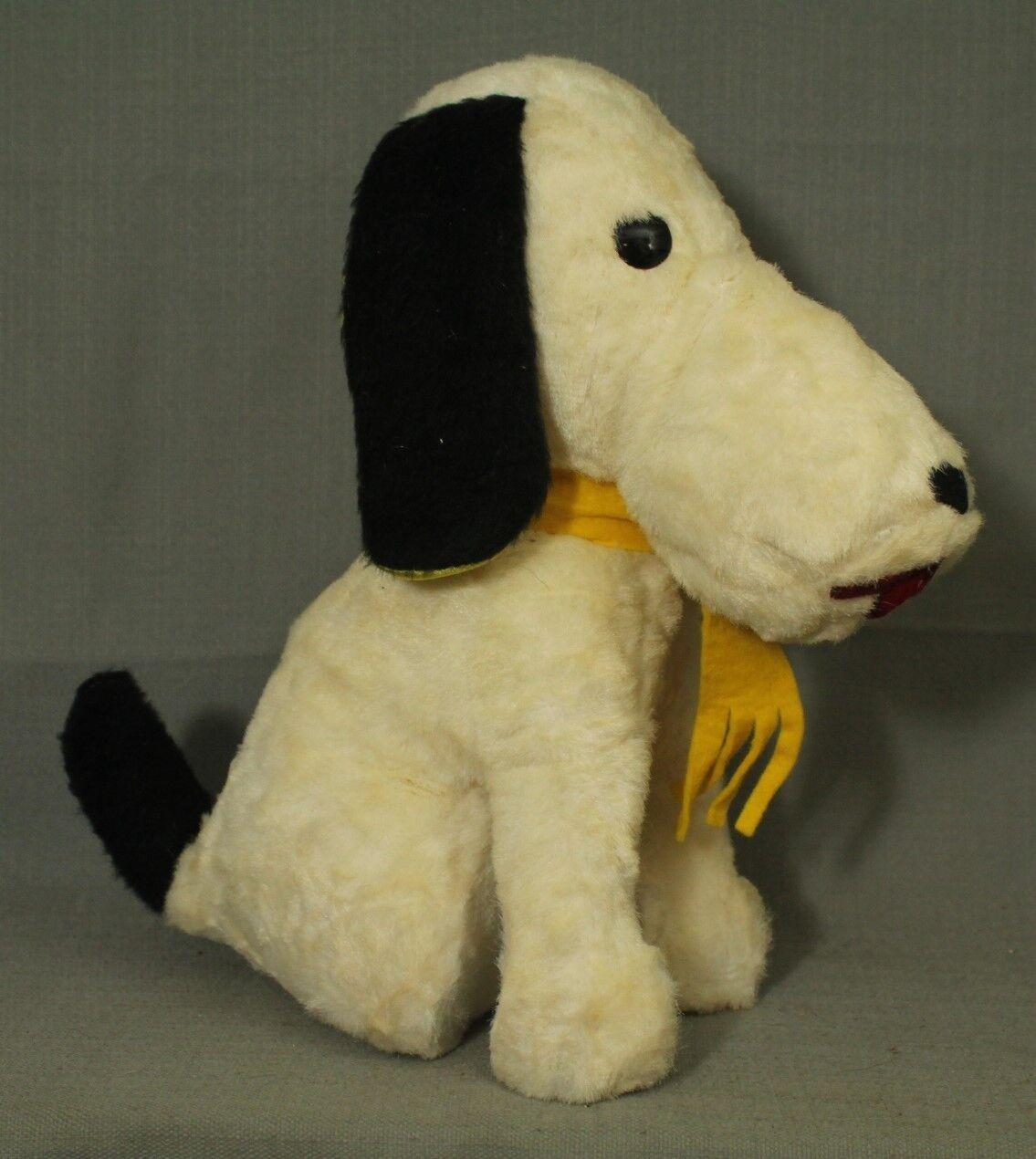 Vintage Peanuts Snoopy Giocattolo a Forma di Cane Peluche che Sta Seduto 1950s