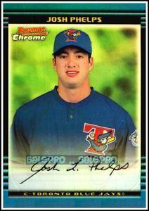 BOWMAN-CHROME-2002-JOSH-PHELP-MLB-BLUE-JAYS-341-RARE-MINT-REFRACTOR-CARD-500