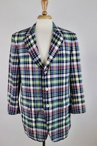 Vintage-Madras-Plaid-Blazer-Napps-Of-Waterbury