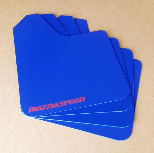 SR 04-09 Mazdaspeed 3 /& Mazda 3 Mud Flaps Kit BLUE w// Hardware /& Vinyl Logo