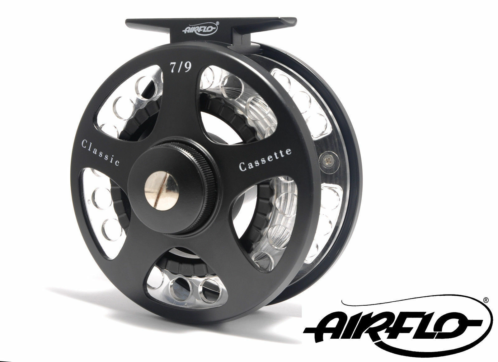 Brand new Lightweight Airflo Classic Cassette Trout fly Reel 7/9 4 spare spools