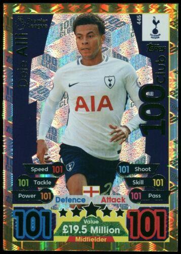 Dele Alli Tottenham Hotspur #445 match Attax 2017//18 Topps Trading Card C2622