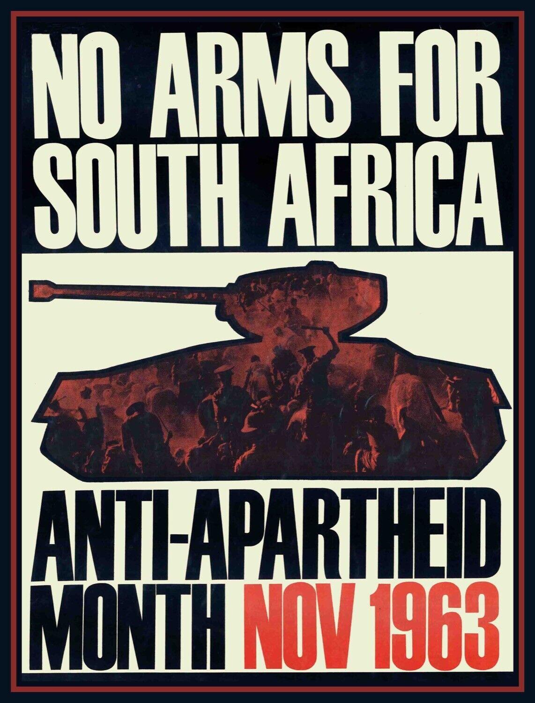 Decor Poster.Home interior design.Room art.No arms for South Africa.Tank.6959
