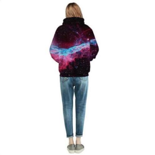 Woman hoodies Adventure Time Galaxy Printed Pullover Pocket hoodies S-3XL