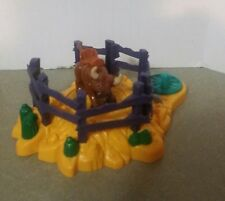 Fisher Price Geotrax Train Western Rope N Ride Rodeo Ranch Bucking Bull