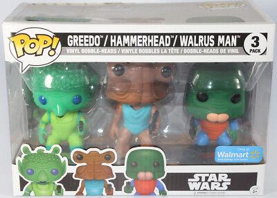Walrus Man Cantina Exclusive 3-Pack Star Wars: Greedo HAMMERHEAD Funko Pop
