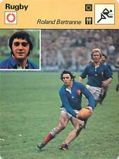 FICHE CARD: Roland Bertranne France Rugby Union RUGBY à XV 1970s