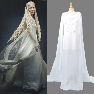 The Lord of the Rings The Hobbit Galadriel Dress Cosplay Costume