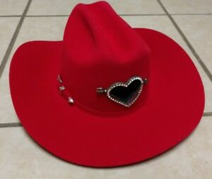 44ae51068 Details about Bailey Red Angora 4X Pony Up Hat Women's Western Cowboy Hat  w/ Ponytail Hole