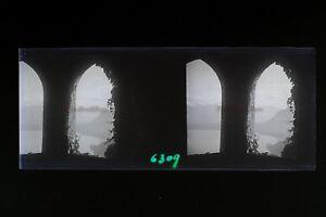 Suisse Glion Foto Amateur Stereo L5n7 Placca Da Lente Vintage Negativo