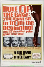 A BIG HAND FOR THE LITTLE LADY MOVIE POSTER POKER ! Original 1966 Folded 27x41