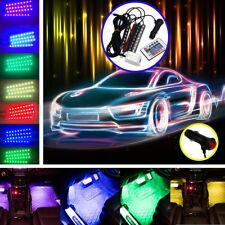 4 In 1 12 V Fashion Romantic LED Blue Car Decorative Lights Charge LED Interior Floor Decoration Lights Lamp