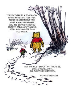 Details about Winnie The Pooh And Piglet Hunt With Quote Print 11 x 14 #3632