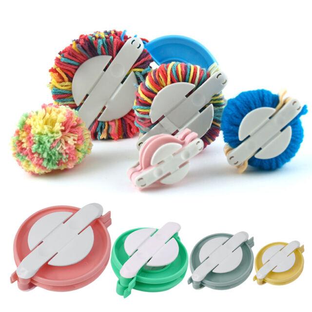 New 4 Sizes Pompom Maker Ball Weaver Needle Craft Knitting Loom Wool Tool AZ