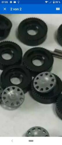 C71 Wiking Ersatz Räder 1:87 14 Stück Rad Reifen m Achse Radkappe PKW Bereifung
