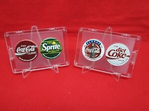 1993-Coca-Cola-Bottling-Company-Of-Hawaii-set-of-4-pogs-Diet-Coke-Sprite-FRAMED