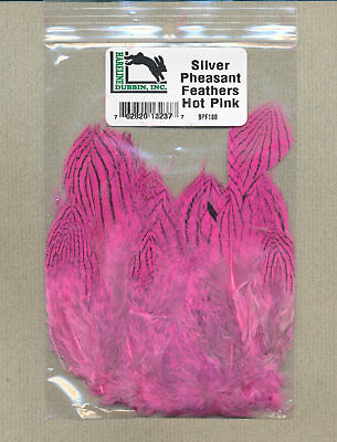 """HARELINE    SILVER PHEASANT /""""  body feathers strung /""""     YELLOW       Fly Tying"""