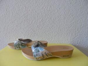 Sandalen-Pantoletten-Clogs-Scholl-Pescura-Gr-39-Leder-TOP