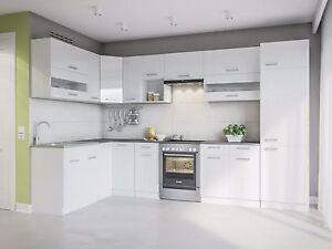 Kuche Alina 330x170 Weiss L Form Kuchenzeilen Einbaukuche