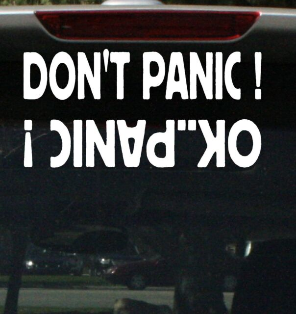Dont panic funny car sticker 4x4 4wd