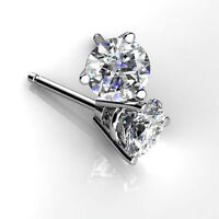 Round Cut 0.50 Ct Diamond Earring Stud 14K White Gold Solitaire Earring Stud 458