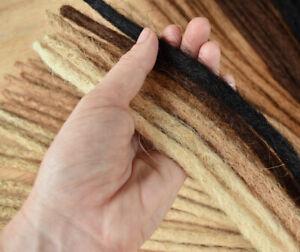 Dreadlock-Extensions-Crocheted-HUMAN-HAIR-3-x-Dreads-40cm-long-Pencil-Thin