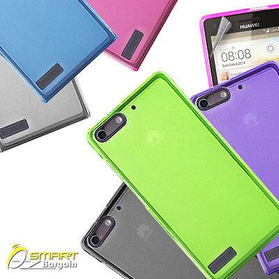 Matte Gel Case For Huawei Ascend G6 G6 Screen Guard TPU Jelly Soft Cover   eBay