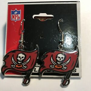 a3301d0c Details about Tampa Bay Buccaneers Logo Charm Silver Tone Earrings PS
