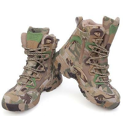 Camo Mens Military Linghtweight Combat Tactical Outdoor Hiking Boots Shoes Size